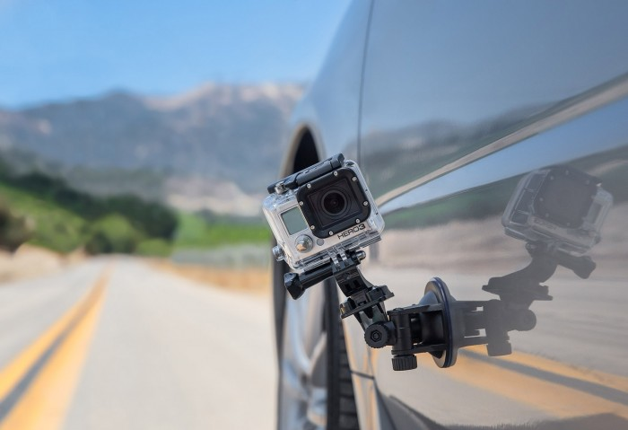 X-Shot Suction Mount on a Car