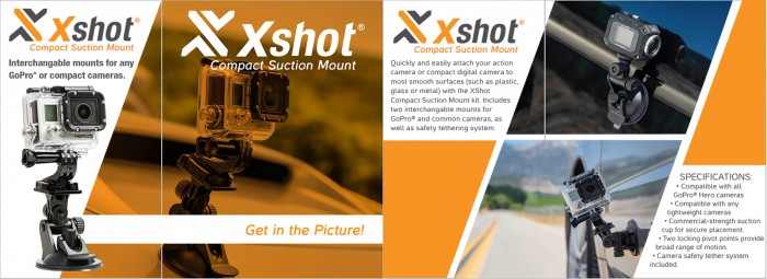 X-Shot Compact Suction Mount Packaging